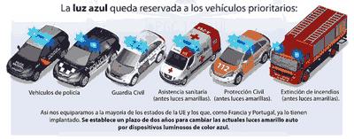 vehiculos emergencias luz azul