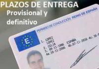 Plazos de entrega carnet de conducir