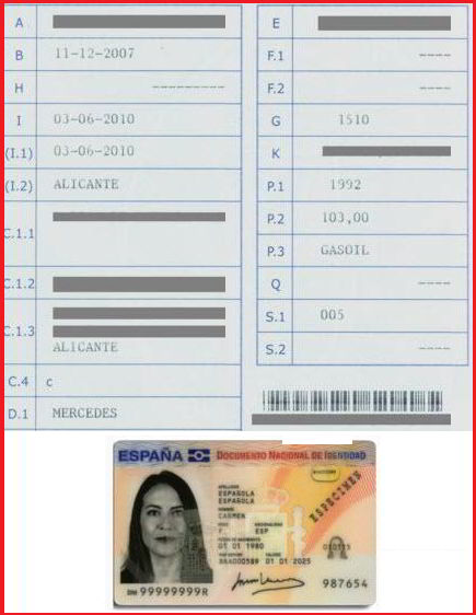 documentación para pedir pegatina DGT en correos